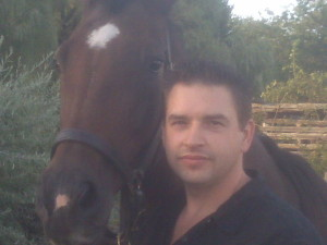 Richard Nelson President Forever Pet Care and Allie his Thoroughbred mare